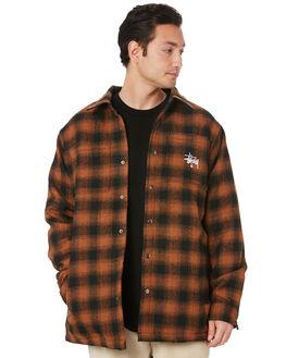 RUST MENS CLOTHING STUSSY SHIRTS - ST006401RUST