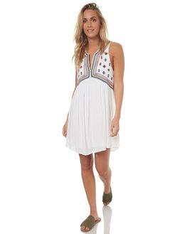 WHITE WOMENS CLOTHING TIGERLILY DRESSES - T372413WHT