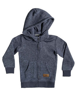 NAVY BLAZER HEATHER KIDS BOYS QUIKSILVER JUMPERS + JACKETS - EQKFT03258-BYJH