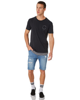 WASHED BLACK MENS CLOTHING SILENT THEORY TEES - 4022118WBLK
