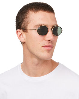 GOLD GREEN MENS ACCESSORIES RAY-BAN SUNGLASSES - 0RB3847NGLDGR