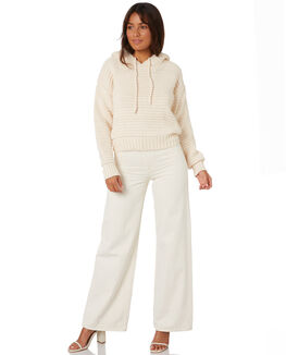 WHITE WOMENS CLOTHING RUE STIIC KNITS + CARDIGANS - SW-20--K-09-WWHT
