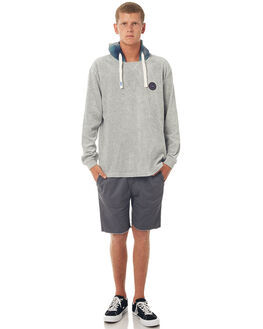 LIGHT GREY HEATHER MENS CLOTHING QUIKSILVER JUMPERS - EQYFT03750SJSH