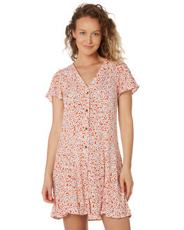 RED WOMENS CLOTHING RIP CURL DRESSES - GDRIN10040