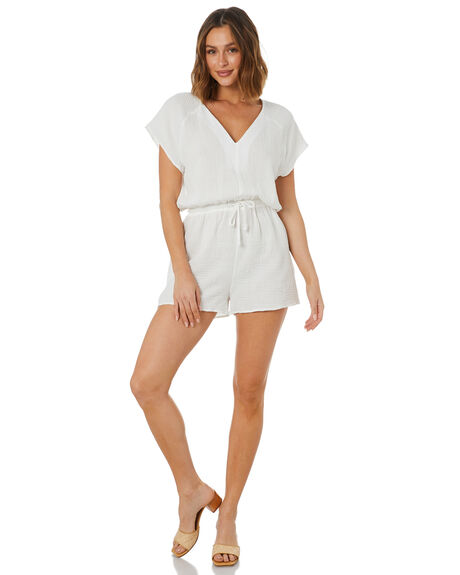 WHITE WOMENS CLOTHING THE HIDDEN WAY PLAYSUITS + OVERALLS - H8222461WHT
