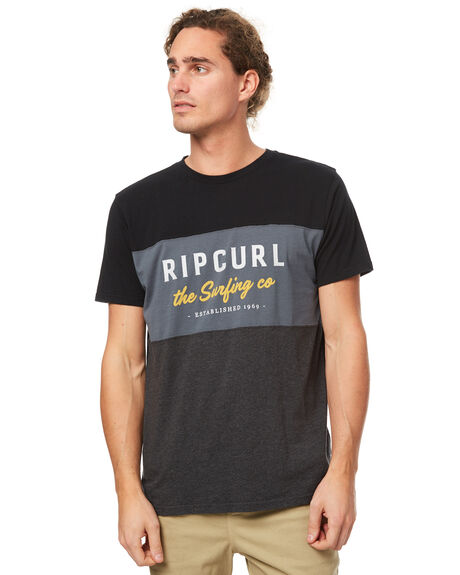 BLACK MENS CLOTHING RIP CURL TEES - CTEFM20090