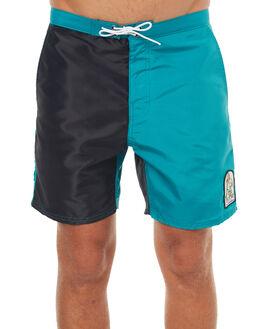BLACK TEAL MENS CLOTHING KATIN BOARDSHORTS - TRSSDOG17BLKTEA