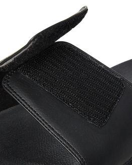 BLACK MENS FOOTWEAR RUSTY SLIDES - FOM0343-BLK
