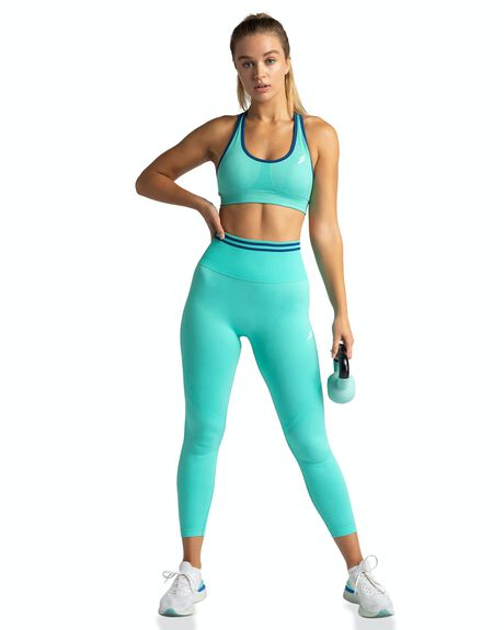 BRIGHT TEAL WOMENS CLOTHING DOYOUEVEN ACTIVEWEAR - F.03.XS
