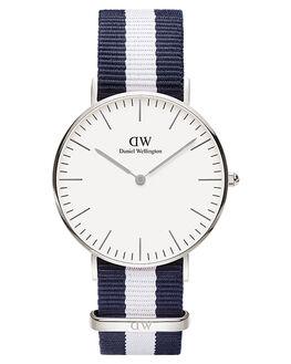 SILVER BLUE WHITE MENS ACCESSORIES DANIEL WELLINGTON WATCHES - DW00100047BLUWH