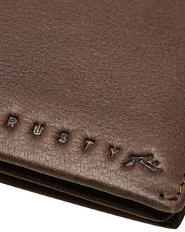 CHOCOLATE MENS ACCESSORIES RUSTY WALLETS - WAM0546CHO