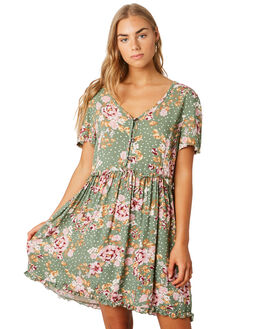 KEIRA FLORAL WOMENS CLOTHING SWELL DRESSES - S8201448KEFLR