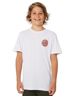 WHITE KIDS BOYS SANTA CRUZ TOPS - SC-YTD8122WHT