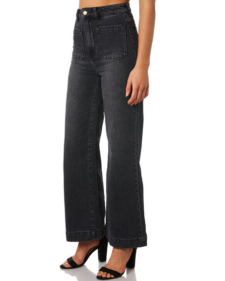 COMFORT 80S BLACK WOMENS CLOTHING ROLLAS JEANS - 13010-4347