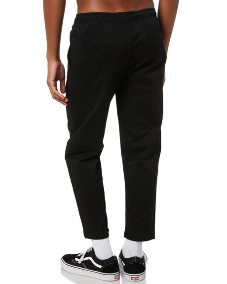 BLACK MENS CLOTHING STAY PANTS - SPA-1901BLK