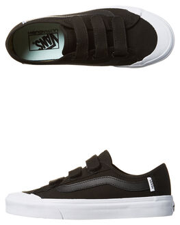BLACK WHITE WOMENS FOOTWEAR VANS SKATE SHOES - VN-08HSY28BLKW