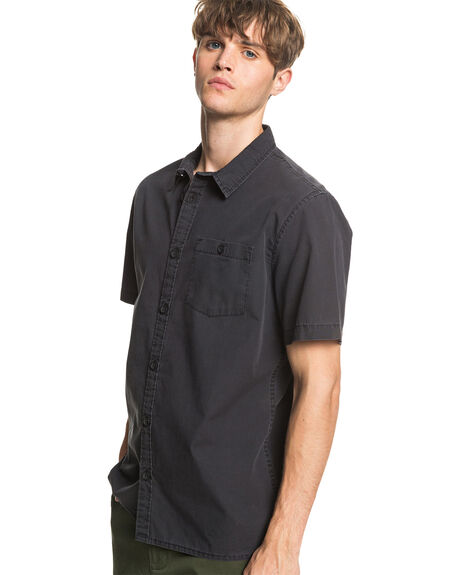 BLACK MENS CLOTHING QUIKSILVER SHIRTS - EQYWT03979-KVJ0