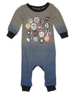 OATMEAL BLUE KIDS BABY ROCK YOUR BABY CLOTHING - BBB1916-SLOATBU