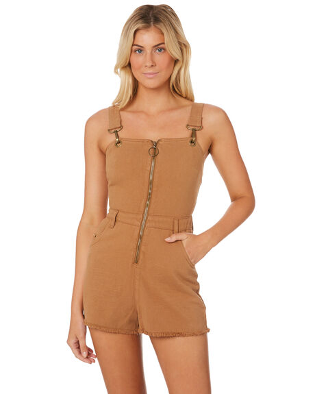 DARK TAN WOMENS CLOTHING AFENDS PLAYSUITS + OVERALLS - W184884DKTAN