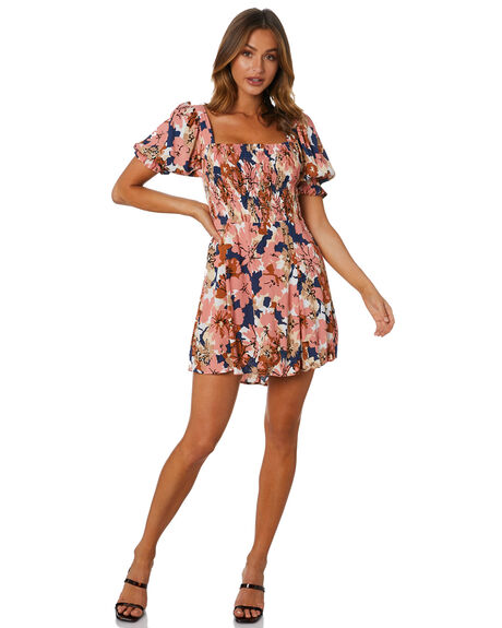 BEBE FLORAL WSTOCK WOMENS CLOTHING RUE STIIC DRESSES - AS-20-07-1-BFW-VRBFW