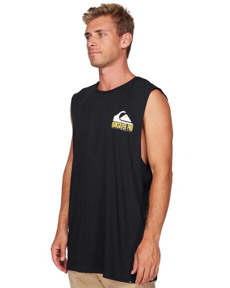 BLACK MENS CLOTHING QUIKSILVER SINGLETS - EQYZT05545-KVJ0