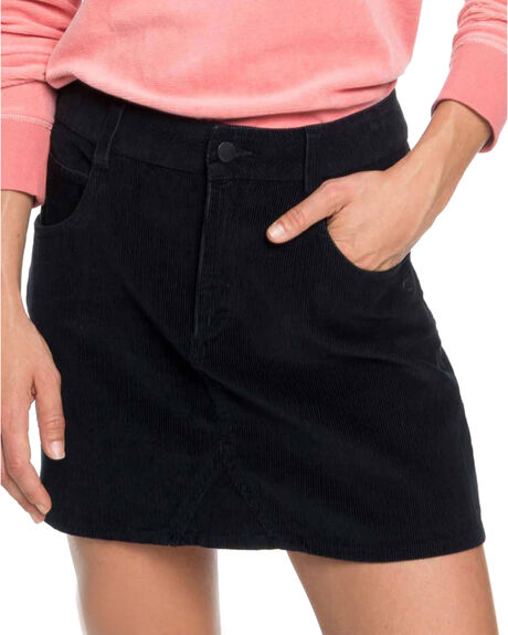 TRUE BLACK WOMENS CLOTHING ROXY SKIRTS - ERJWK03055-KVJ0