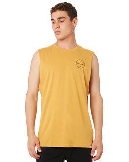 OLD GOLD MENS CLOTHING ELEMENT SINGLETS - 184271OGLD