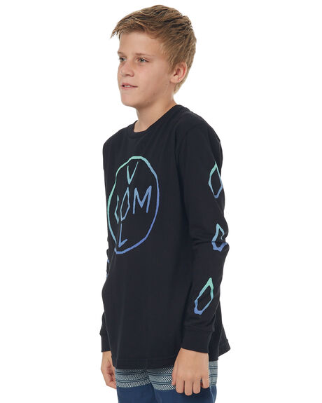 BLACK KIDS BOYS VOLCOM TEES - C3641730BLK