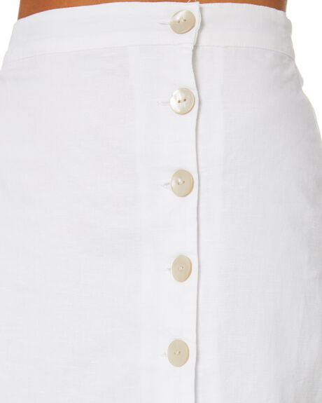 WHITE WOMENS CLOTHING NUDE LUCY SKIRTS - NU23938WHT