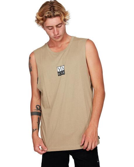 DUST YELLOW MENS CLOTHING RVCA SINGLETS - RV-R192002-DYL