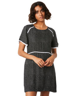 BLACK COMBO WOMENS CLOTHING VOLCOM DRESSES - B1341875BLC