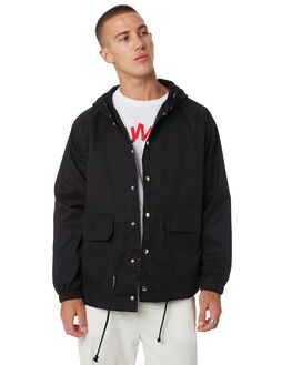 BLACK MENS CLOTHING MISFIT JACKETS - MT095502BLK