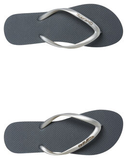 SILVER WOMENS FOOTWEAR CARVE THONGS - CVS2507SILV