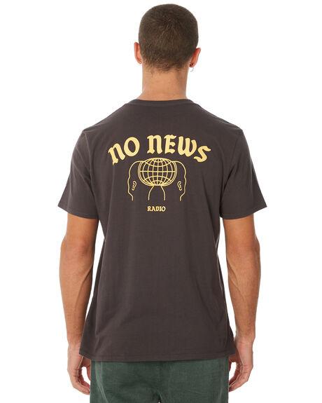 WASHED BLACK MENS CLOTHING NO NEWS TEES - N5183001WSHBK