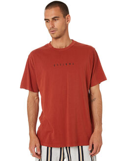 ROCKER RED MENS CLOTHING THRILLS TEES - TR9-100HRRKRED