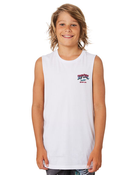 WHITE KIDS BOYS RIP CURL TOPS - KTEWW31000