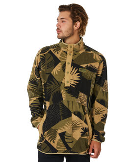 OLIVE WOODCUT PALM MENS CLOTHING BURTON JUMPERS - 17350107300