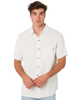WHITE MENS CLOTHING RUSTY SHIRTS - WSM0927WHT