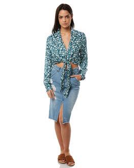 VINTAGE BLUE WOMENS CLOTHING BILLABONG SKIRTS - 6586521VBLU