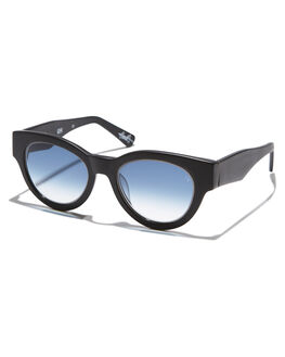 MATTE BLACK BLUE MENS ACCESSORIES VIEUX EYEWEAR SUNGLASSES - VX004EMTBLK