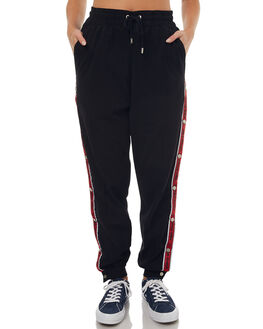 BLACK WOMENS CLOTHING STUSSY PANTS - ST172607BLK