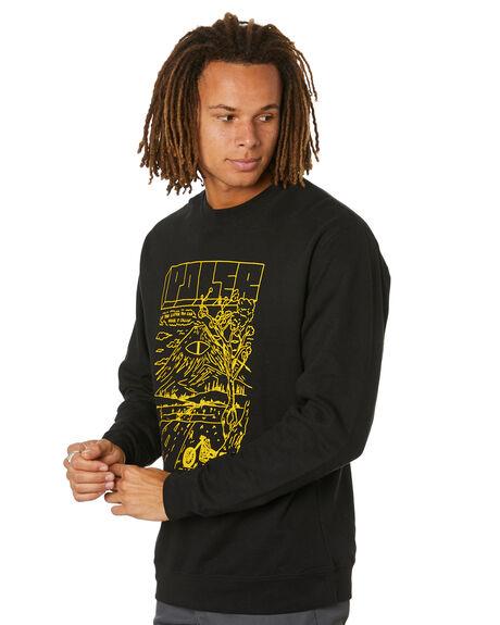 BLACK MENS CLOTHING POLER HOODIES + SWEATS - 212APM2503-BLK