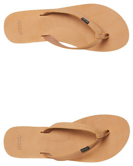 TAN WOMENS FOOTWEAR RIP CURL THONGS - TGTCD81046