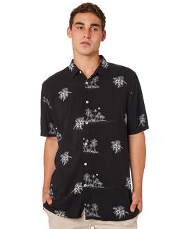 CASTAWAY BLACK MENS CLOTHING BARNEY COOLS SHIRTS - 306-CR4CAST