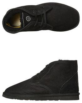 BLACK MENS FOOTWEAR UGG AUSTRALIA UGG BOOTS - DESBLK
