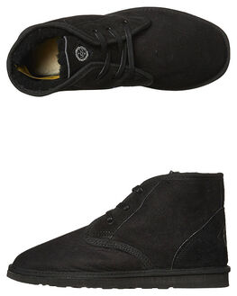 BLACK WOMENS FOOTWEAR UGG AUSTRALIA UGG BOOTS - SSDESBLKW