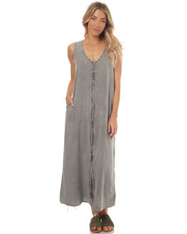 FADED GREY WOMENS CLOTHING THRILLS DRESSES - WTS7-904GFGREY