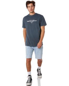 WASHED NAVY MENS CLOTHING THRILLS TEES - TS9-119EWSNVY