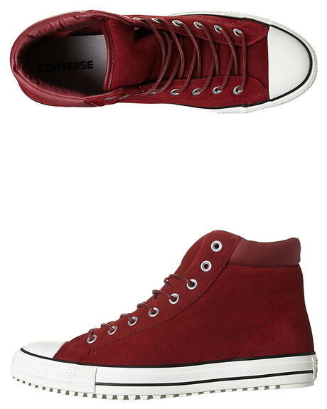 RED BLOCK EGRET MENS FOOTWEAR CONVERSE SNEAKERS - 153677RED