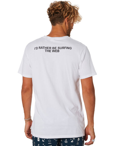 WHITE MENS CLOTHING THE CRITICAL SLIDE SOCIETY TEES - TE18134WHT